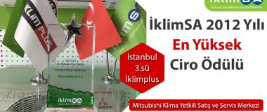 İklimSA 2012 Yılı En Yüksek Ciro Ödülü İstanbul Bölge 3.sü İklim Plus