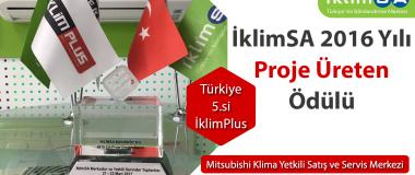 İklimSA 2016 Yılı Proje Üreten Ödülü Türkiye 5.si İklimPlus
